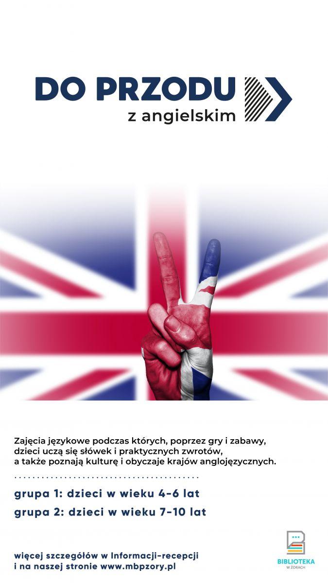 Plakat promujący zajęcia z flagą.