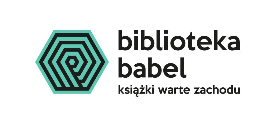 """Logo z podpisem """"Biblioteka Babel. Książki warte zachodu""""."""