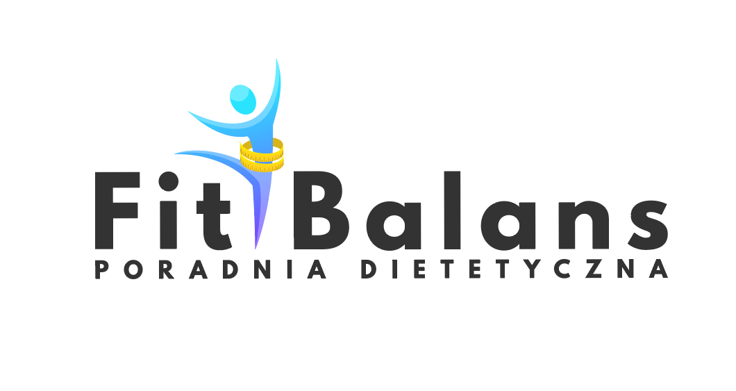"""Logo: """"Fit Balans. Poradnia dietetyczna""""."""