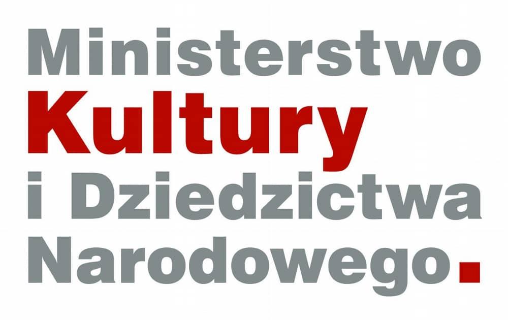 """Logo """"Ministerstwo Kultury i Dziedzictwa Narodowego""""."""