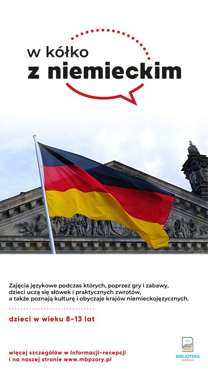 Plakat z flagą Niemiec.