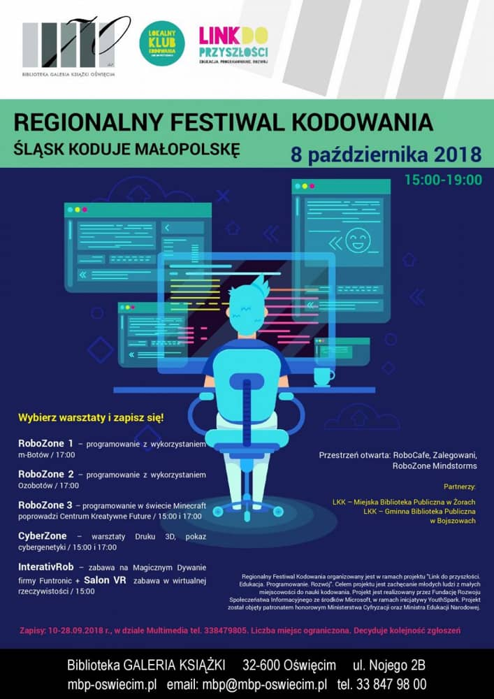 Regionalny Festiwal Kodowania Miejska Biblioteka Publiczna